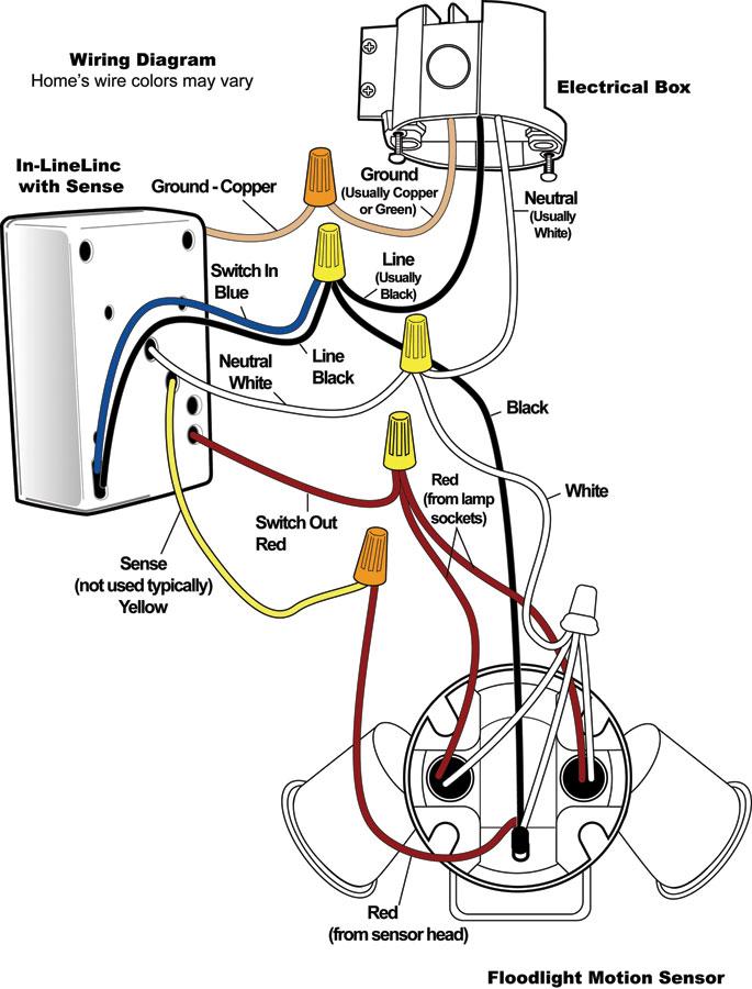Sensor Light Wiring Diagram - Wire Diagram:Photocell Wiring Diagrams 5 Multiple Lights,Lighting