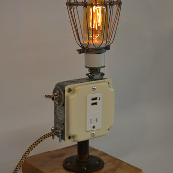wood desk lamp photo - 10