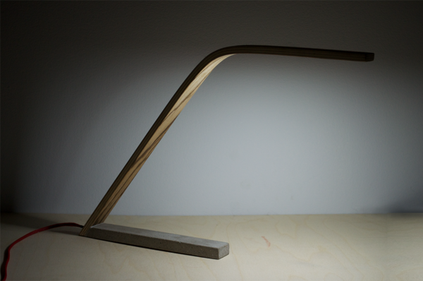 wood desk lamp photo - 3
