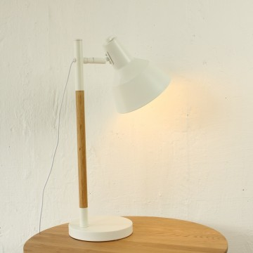 wood desk lamp photo - 4