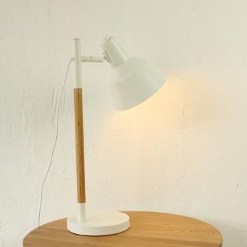 wood desk lamp photo - 4