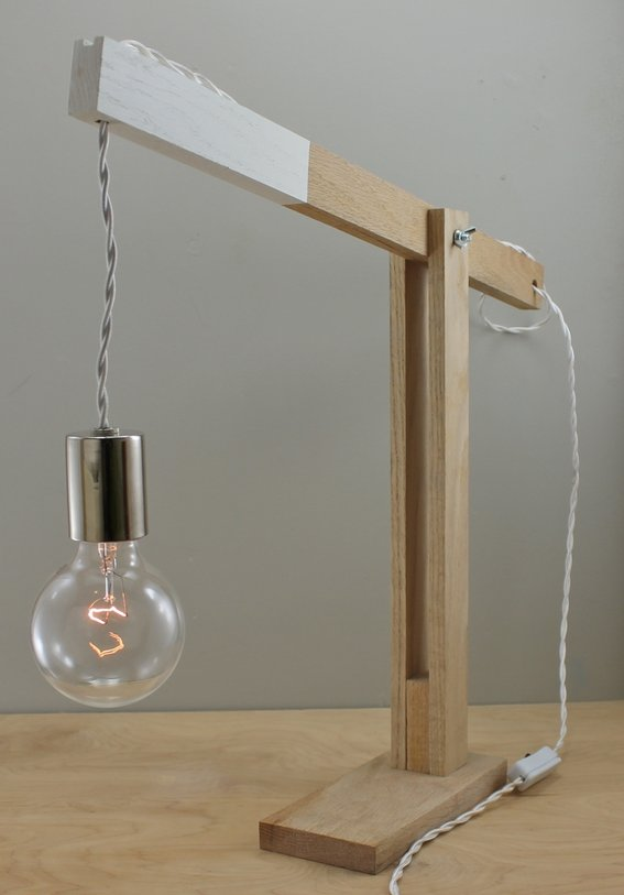 wood desk lamp photo - 5