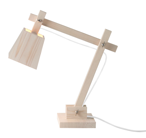 wood desk lamp photo - 7