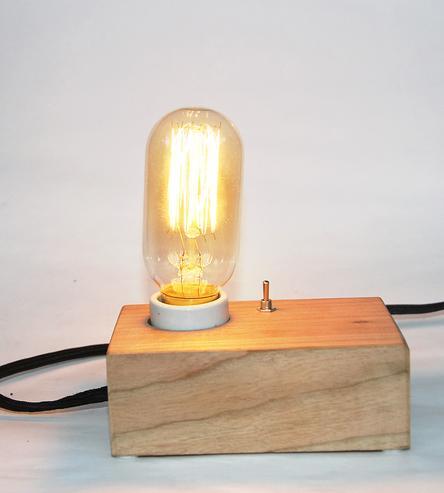 wood desk lamp photo - 9