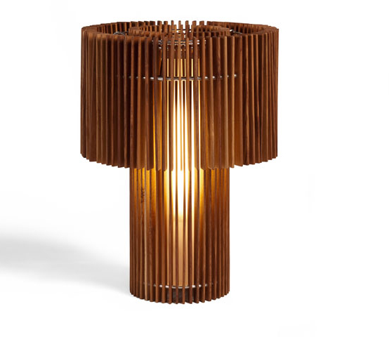 wood table lamps photo - 2