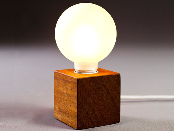 wood table lamps photo - 5