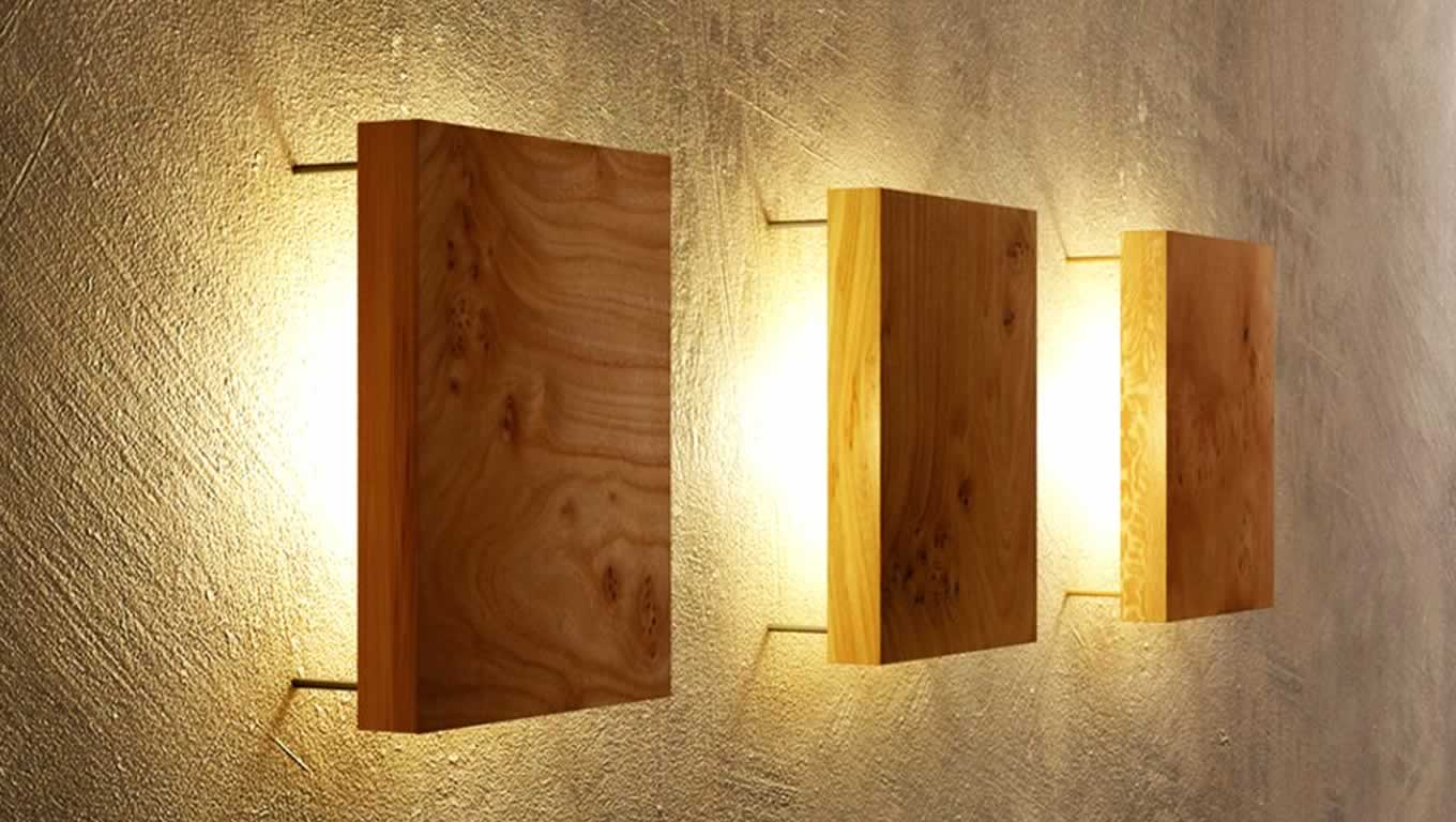 Wood wall lights - 12 ideas to create an uniquely inviting ...