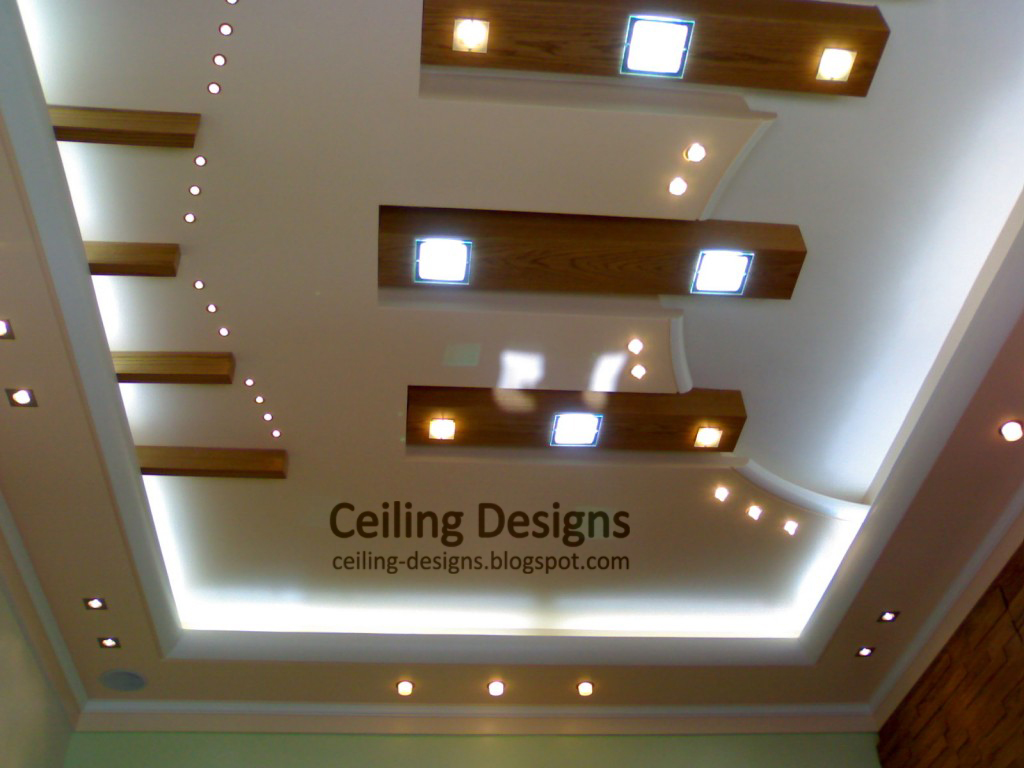 wooden ceiling lights photo - 3