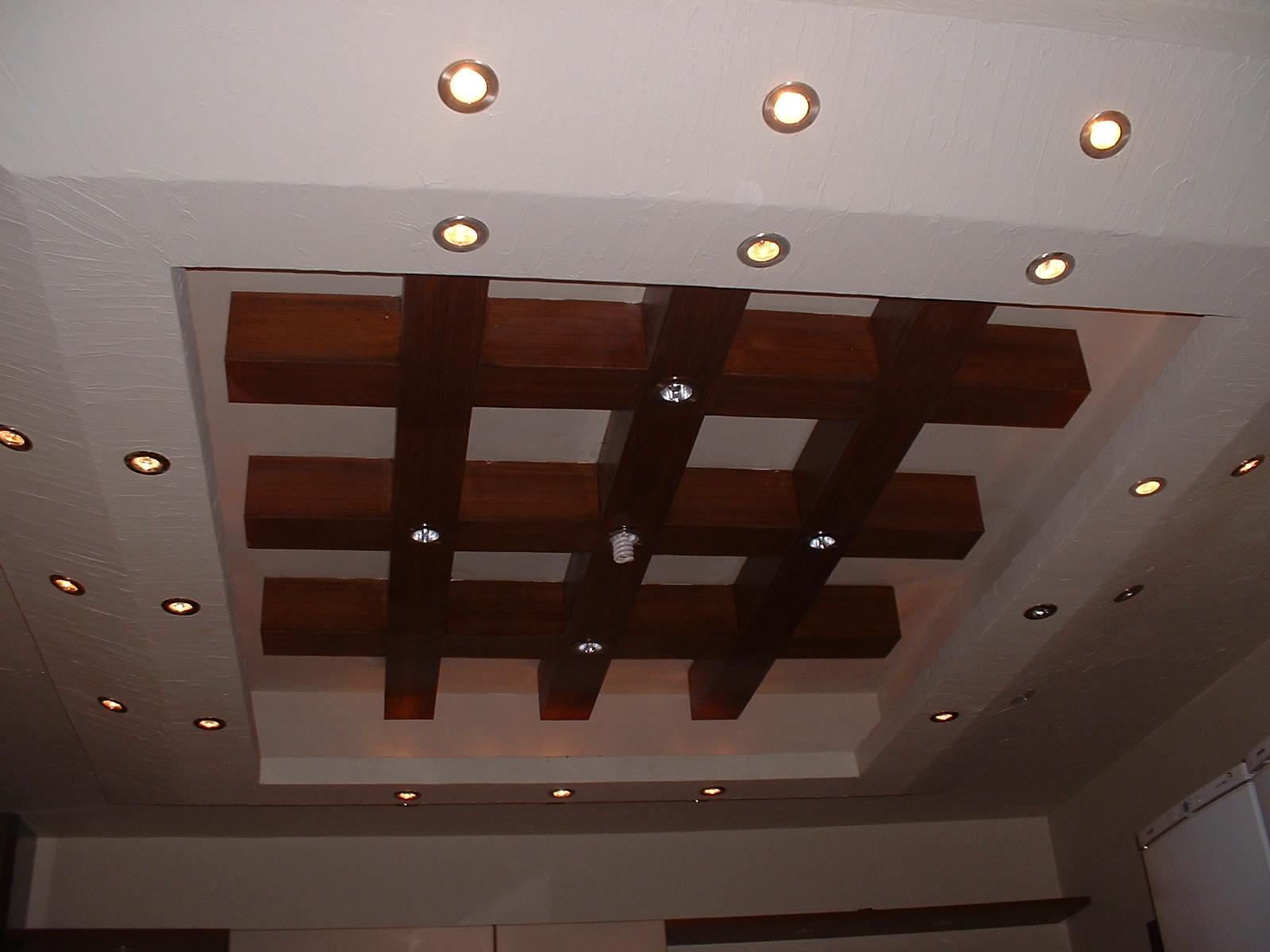 wooden ceiling lights photo - 8