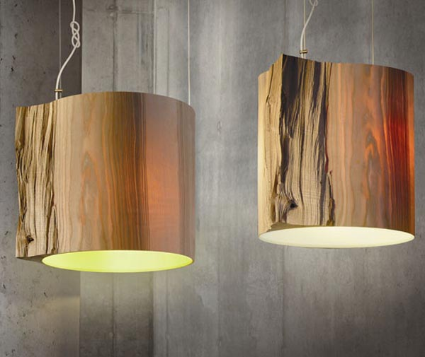 wooden wall lights photo - 3