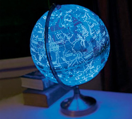 world globe lamp photo - 3