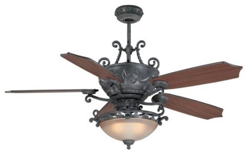 wrought iron ceiling fans photo - 2