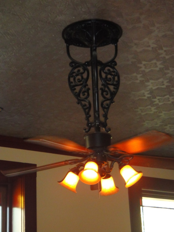 wrought iron ceiling fans photo - 8