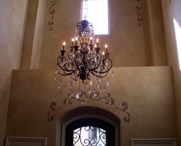 wrought iron ceiling lights photo - 7