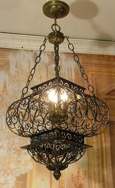 wrought iron ceiling lights photo - 9