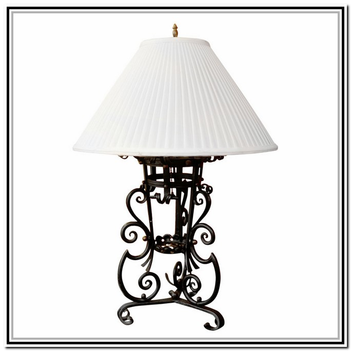 wrought iron lamps photo - 5