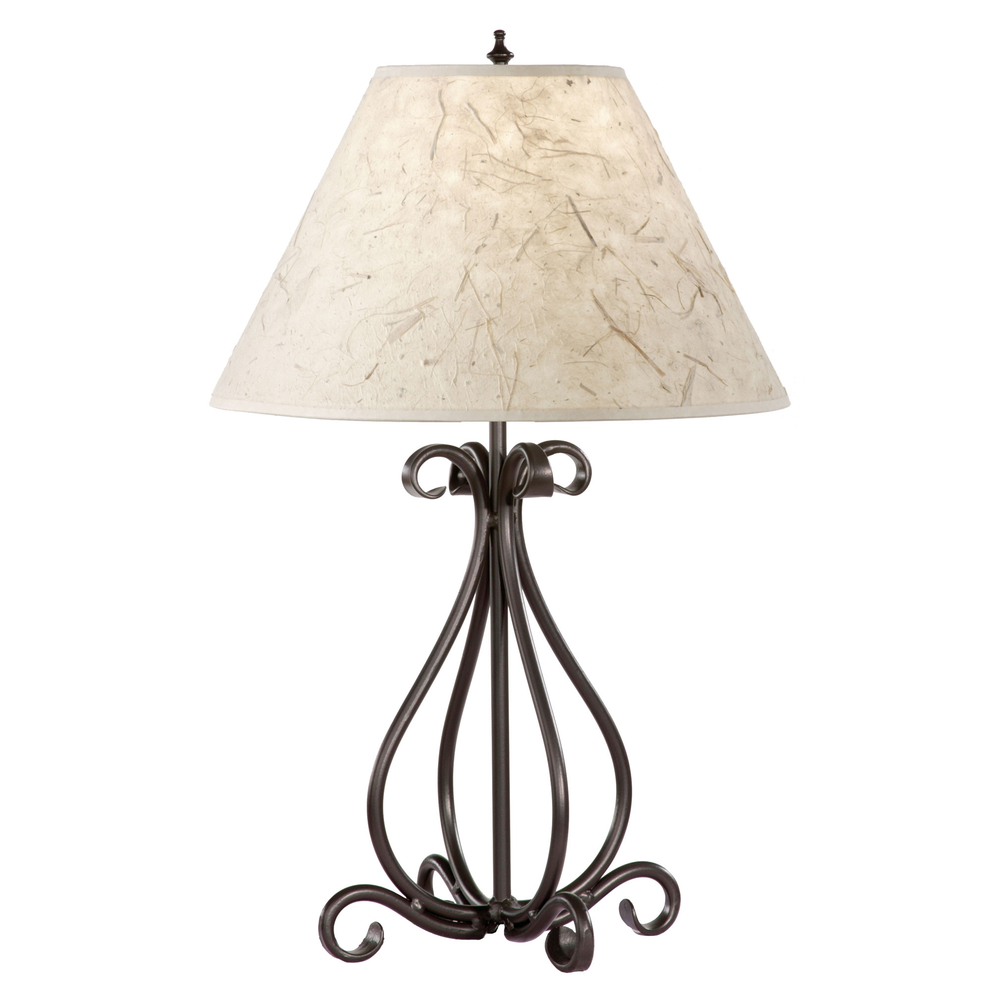wrought iron table lamps photo - 2