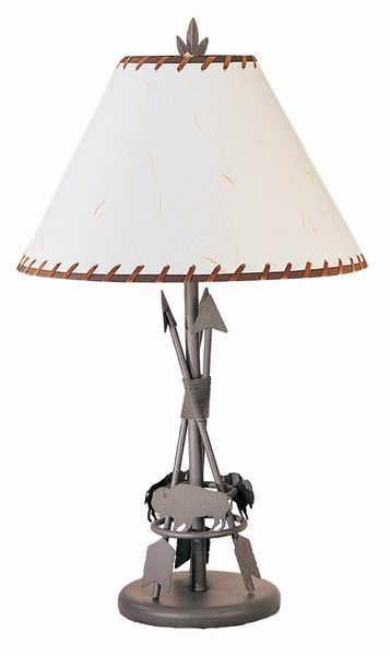 wrought iron table lamps photo - 6