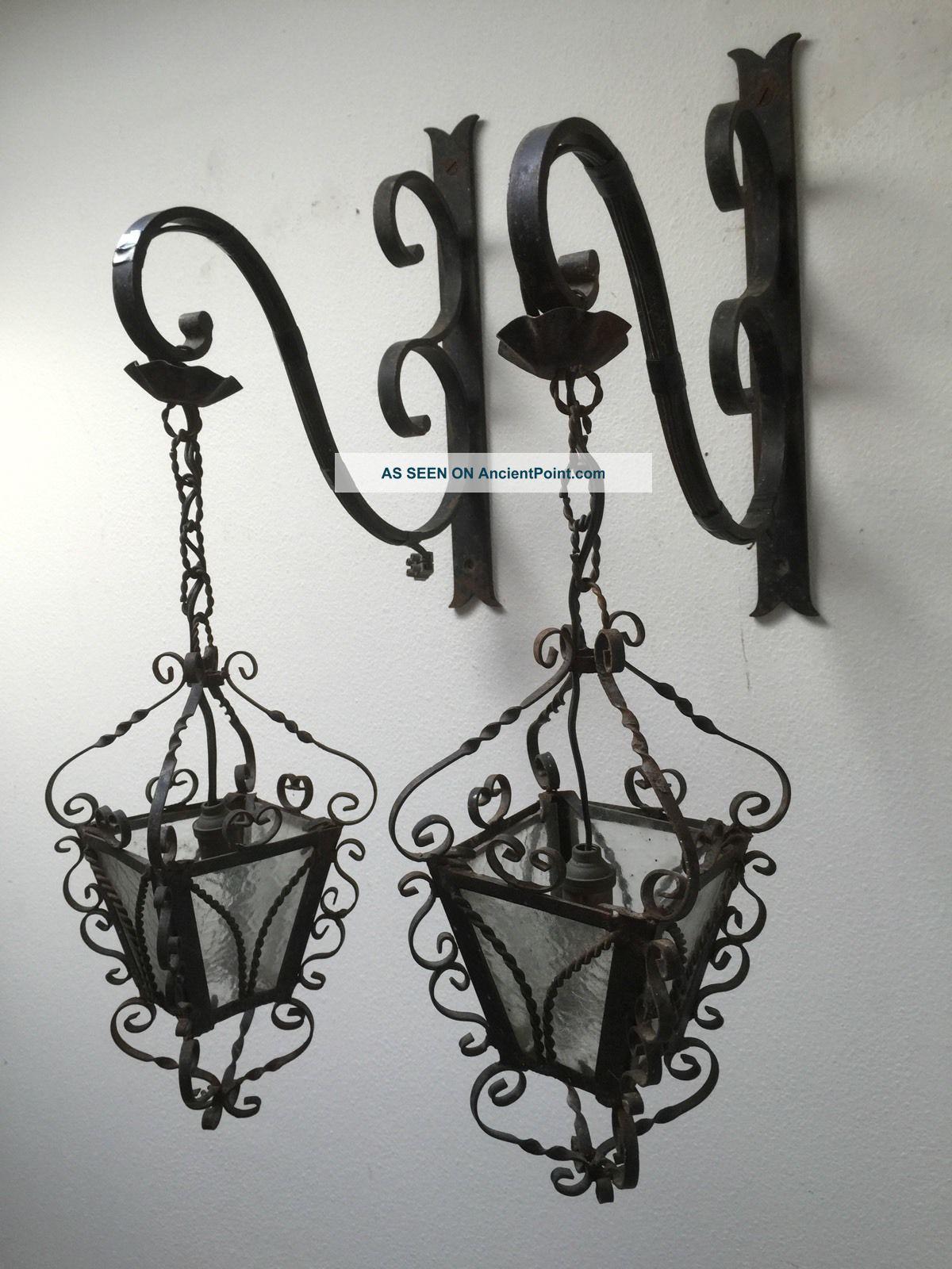wrought iron wall lights photo - 7