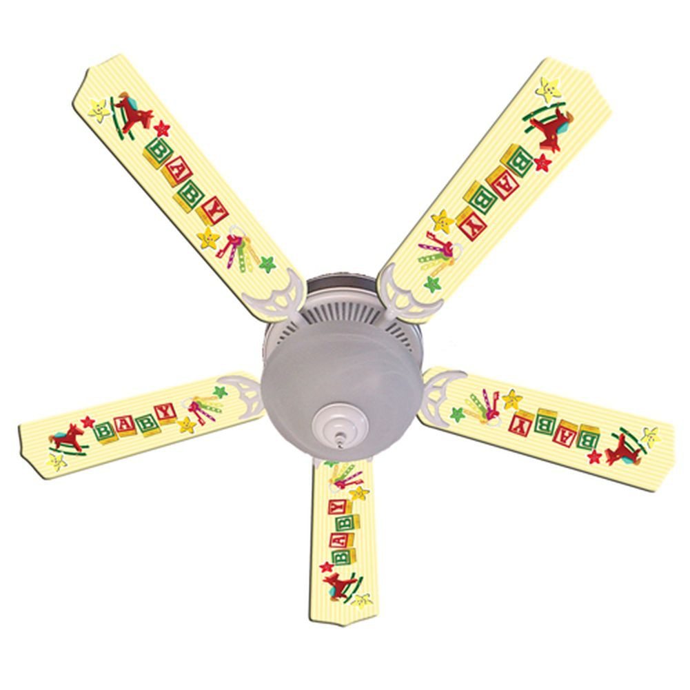 yellow ceiling fan photo - 10