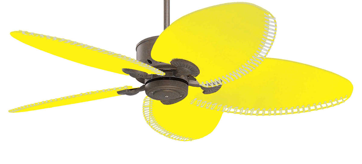 yellow ceiling fan photo - 5