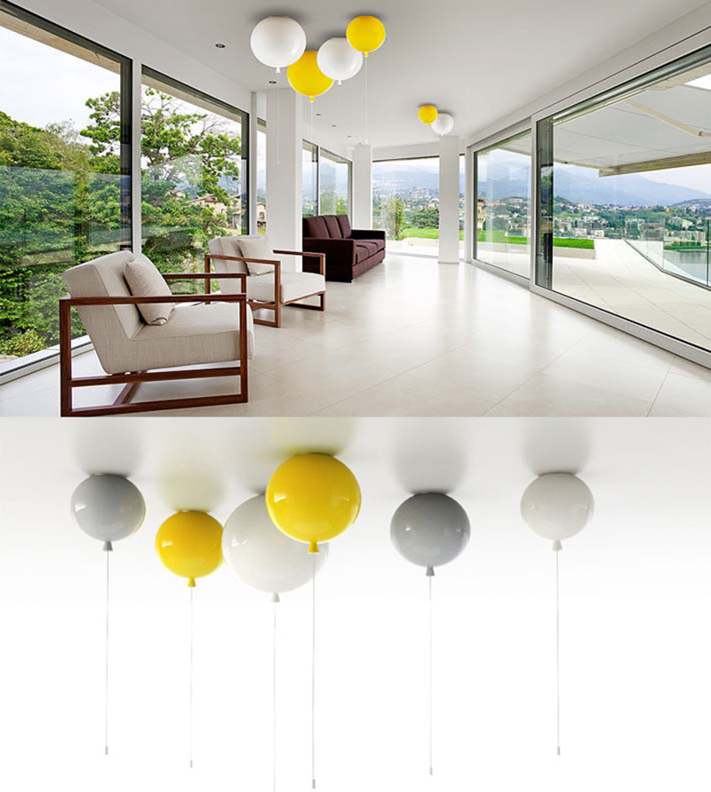 yellow ceiling lights photo - 9