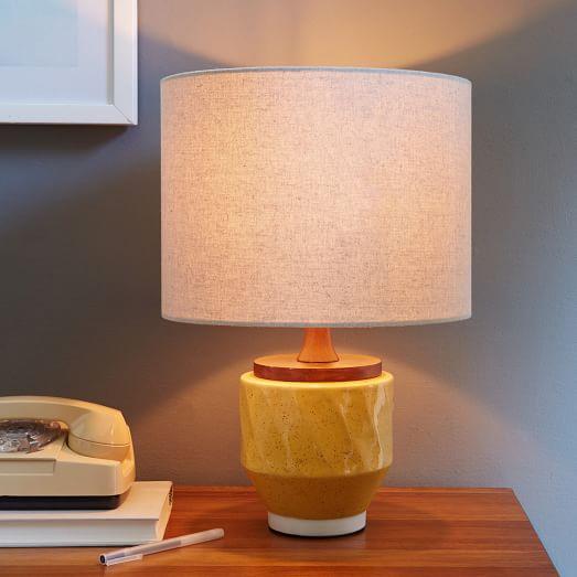 yellow ceramic lamp photo - 1