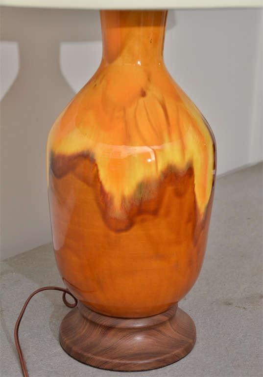 yellow ceramic lamp photo - 8