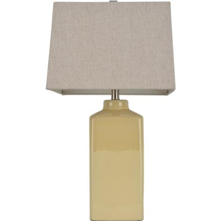yellow ceramic table lamp photo - 10