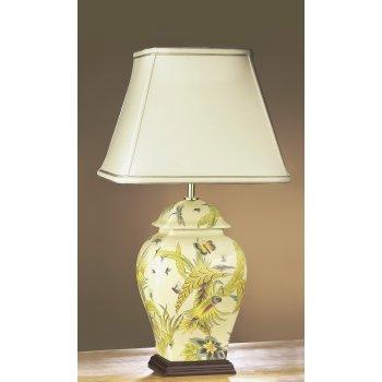 yellow ceramic table lamp photo - 7