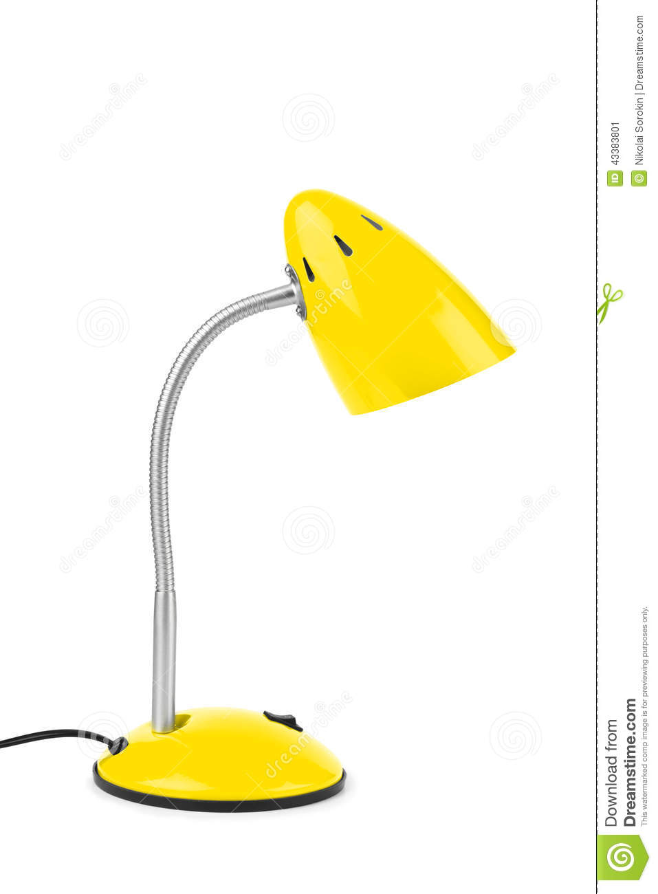 yellow desk lamp photo - 2