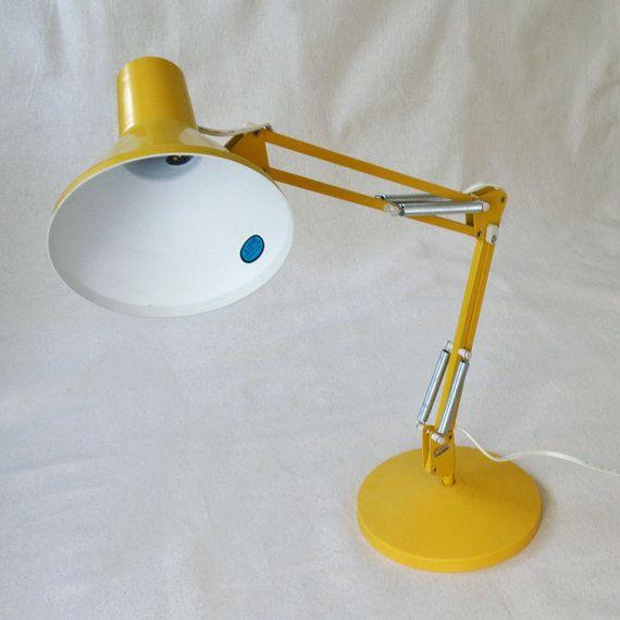 yellow desk lamp photo - 3