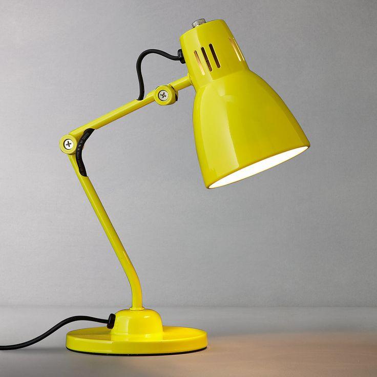 yellow desk lamp photo - 6