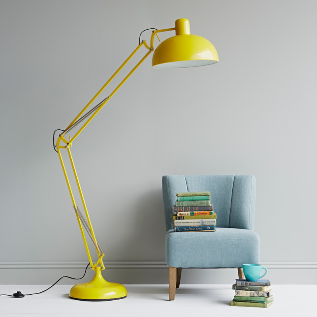 yellow floor lamp photo - 1