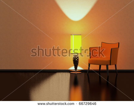 yellow floor lamp photo - 2
