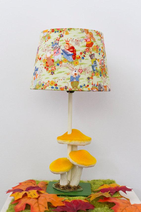 yellow nursery lamp photo - 10