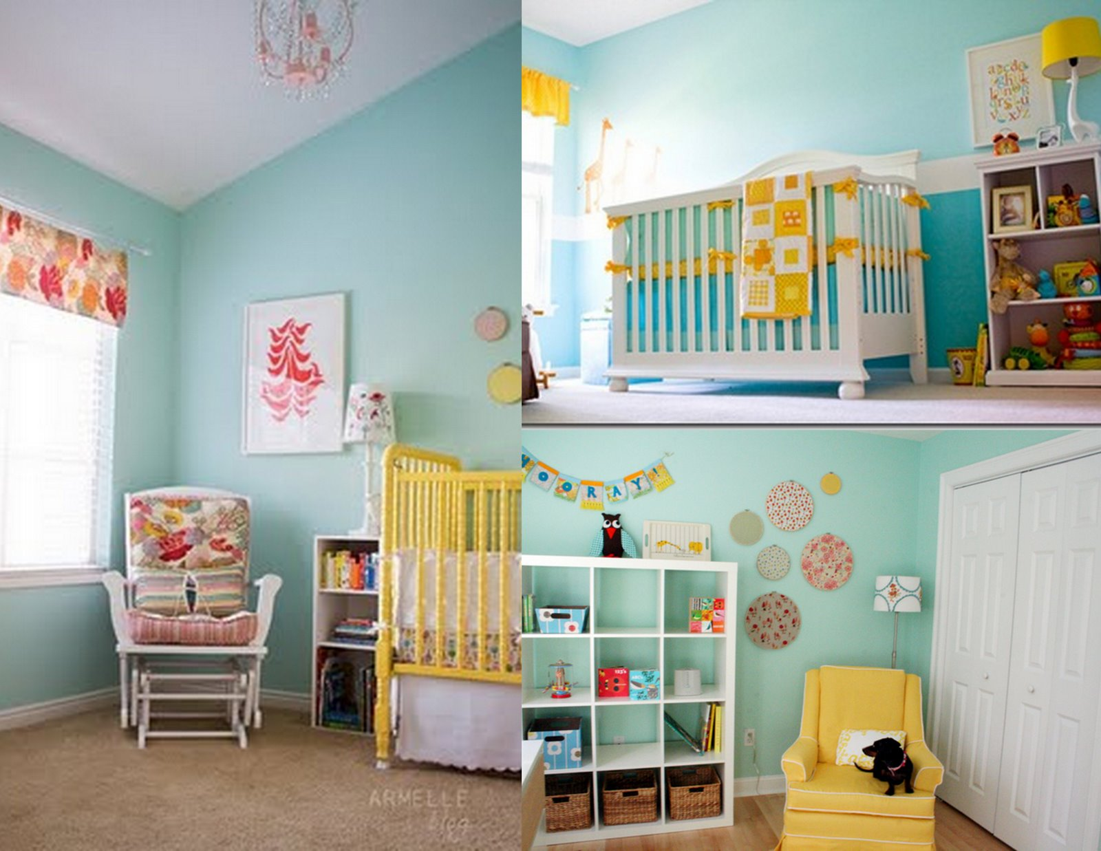 20 Reasons to Paint Your Nursery Blue - Project Nursery |Green And Yellow Baby Room
