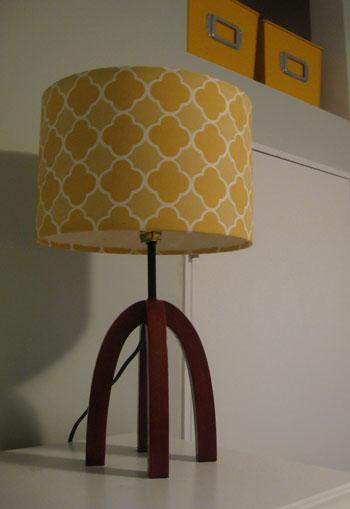 yellow nursery lamp photo - 4