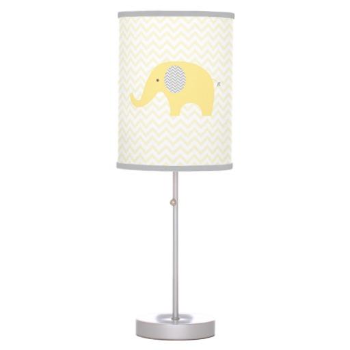 yellow nursery lamp photo - 9