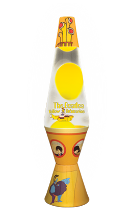 yellow submarine lava lamp photo - 3
