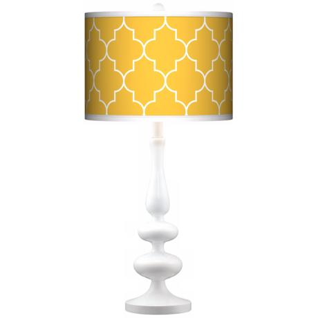 yellow table lamps photo - 2