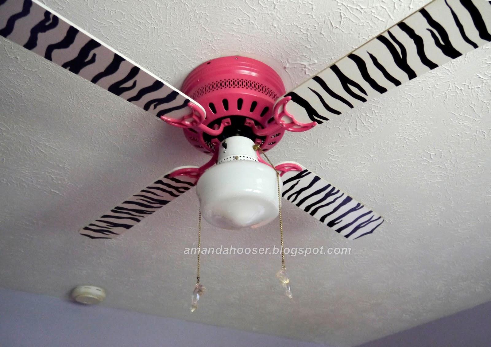 zebra ceiling fan photo - 1