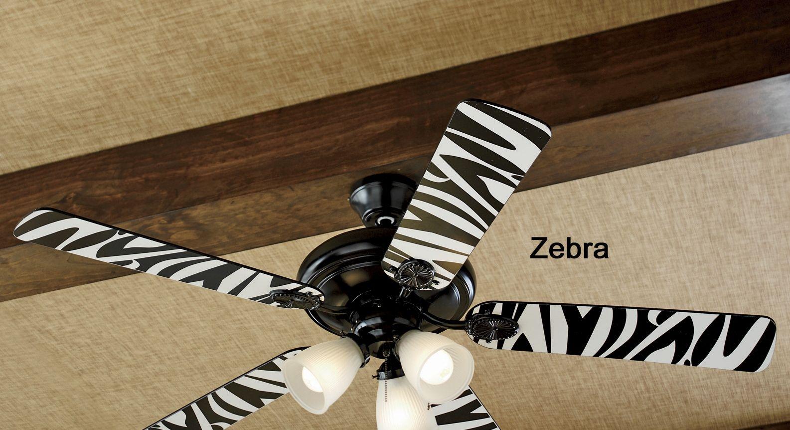 zebra ceiling fan photo - 3