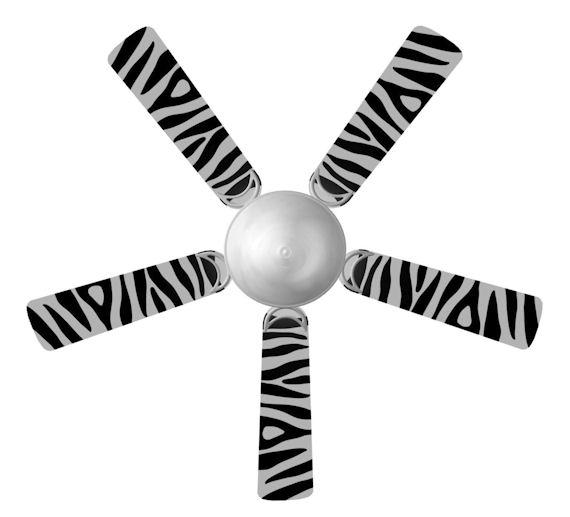zebra ceiling fan photo - 7