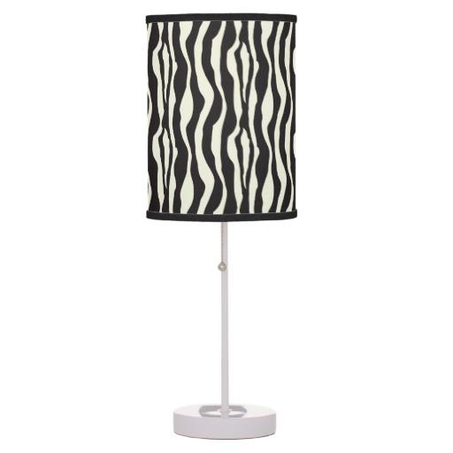 zebra print lamps photo - 5