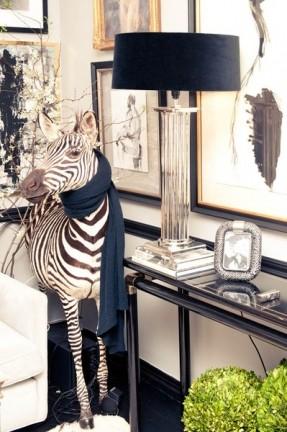 zebra print lamps photo - 8