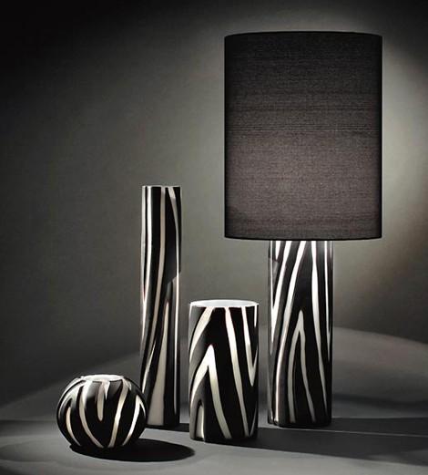 zebra print lamps photo - 9