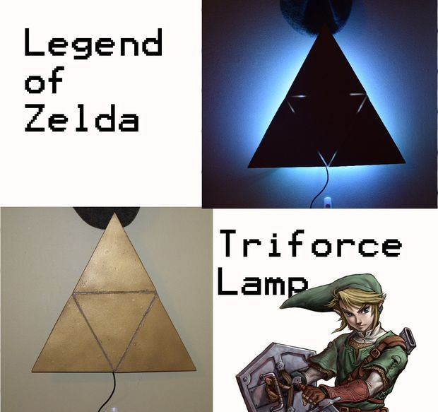 zelda triforce lamp photo - 10